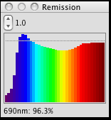 Spectral Graph of white in MeasureTool