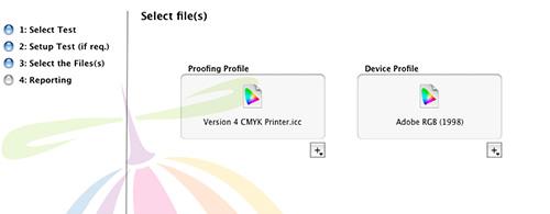Create ColorCast profile - Select Files