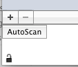 The Autoscan button is in the bottom right corner of the Maxwell client program.