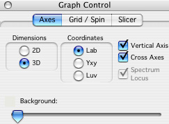 Example of the Graph Control window.