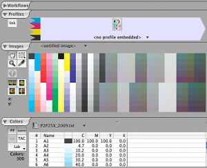 Bring the color list into ColorThink Pro