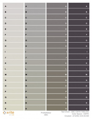 A sample of the gray color bars