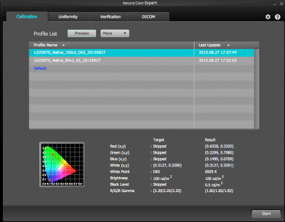 Main window of the Natural Color Expert app