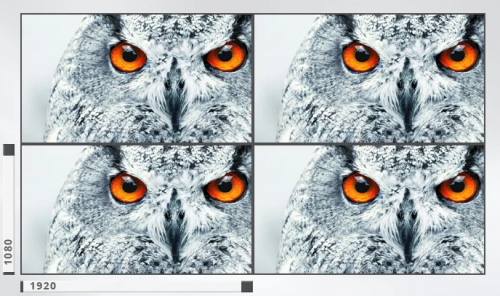 4 HD displays equal one 4K display